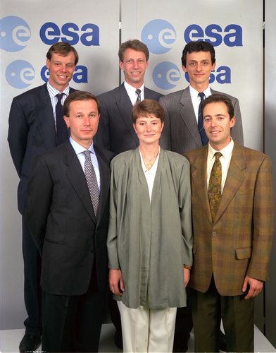 Six new ESA astronauts were selected in 1992