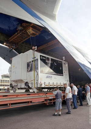 SMART-1 arrives at Rochambeau, French Guiana, 15 July 2003