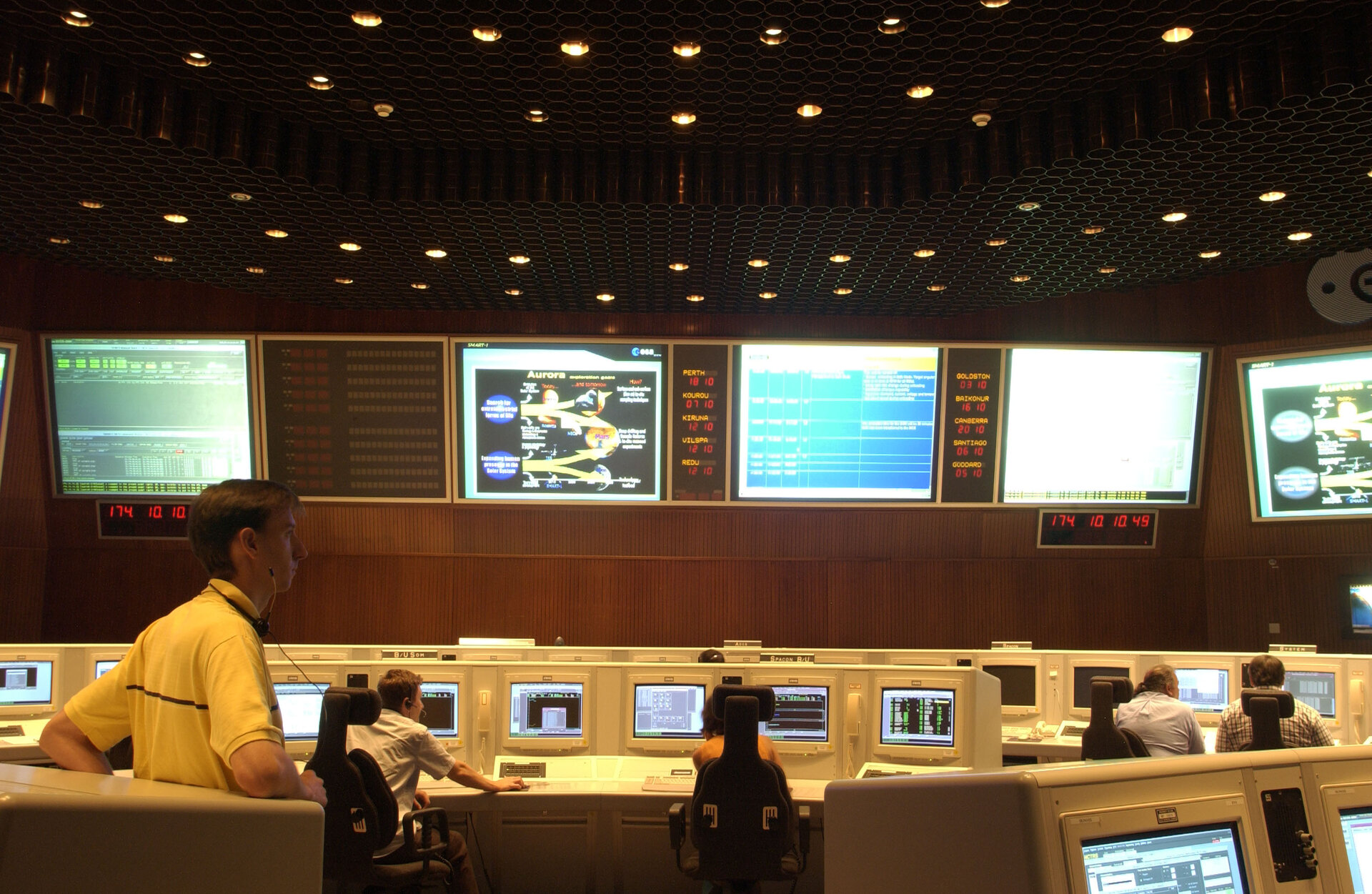 The Main Control room at ESOC