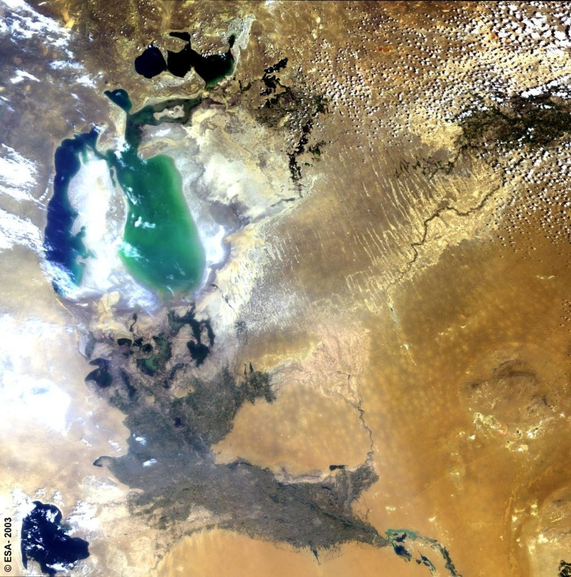 The shrinking Aral Sea, seen from Envisat's MERIS