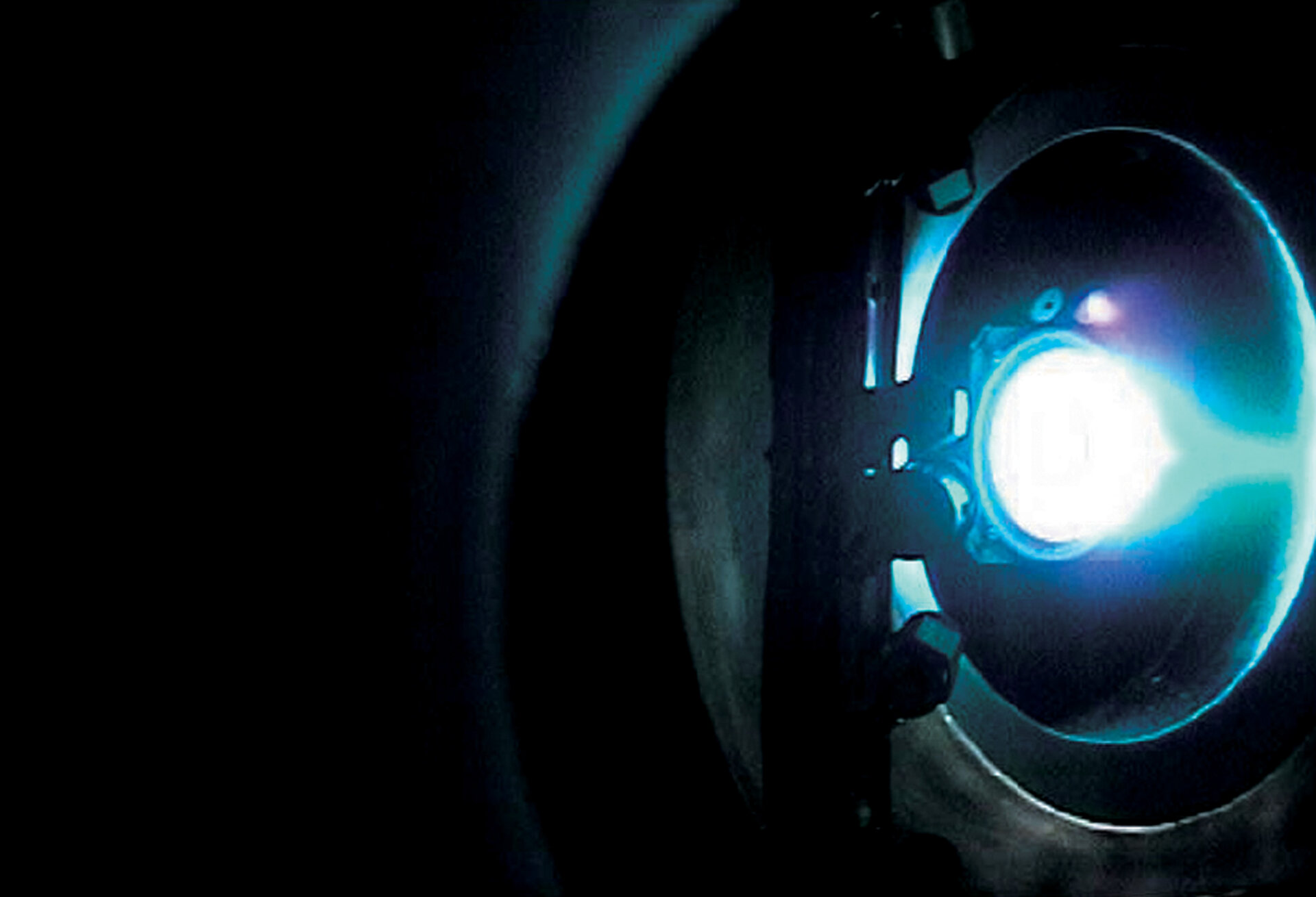 The SMART-1 ion engine being test fired