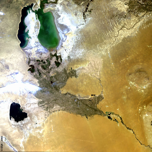 Aral Sea -  MERIS, 17 June 2003