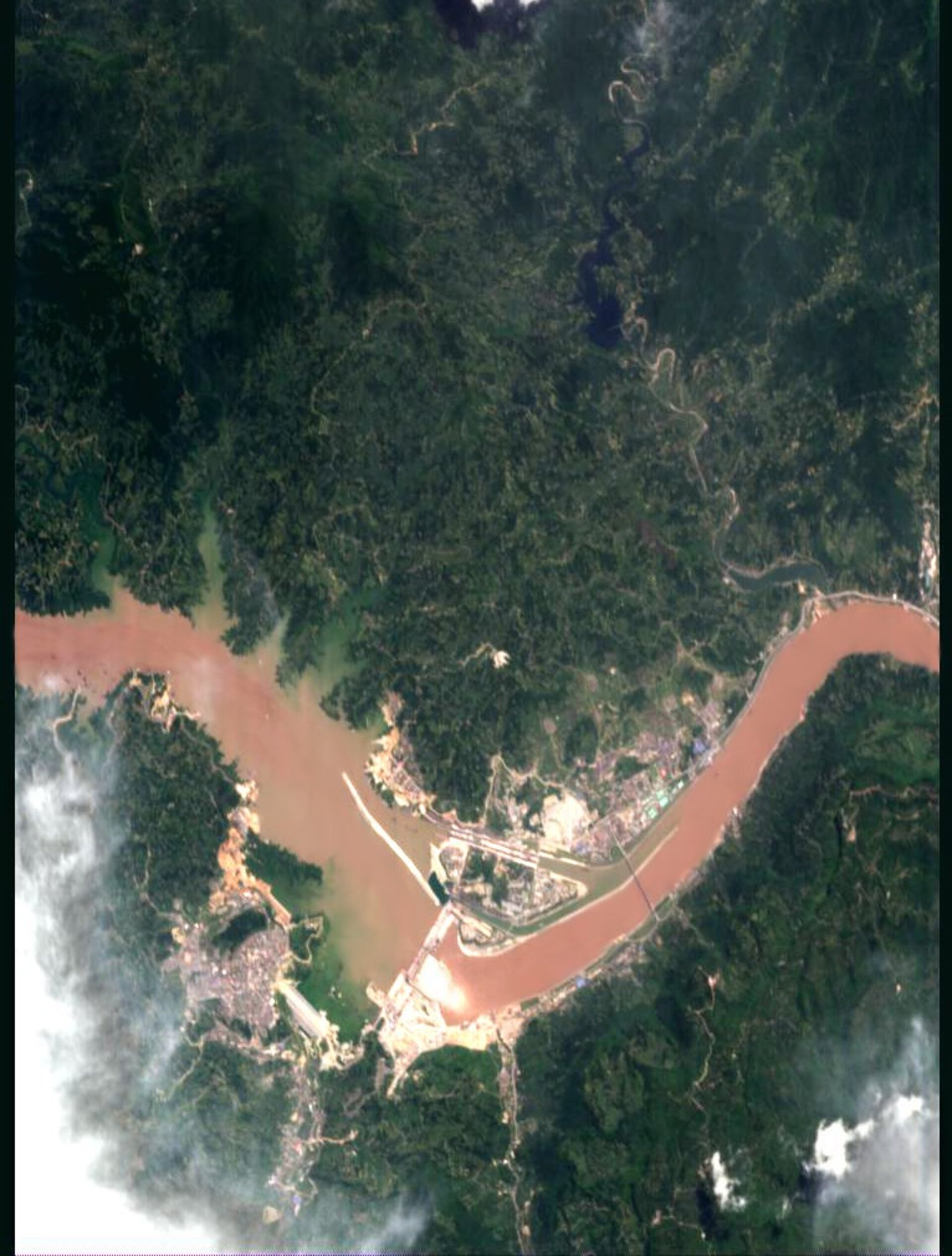 China's Three Gorges dam - CHRIS image, 30 July 2003