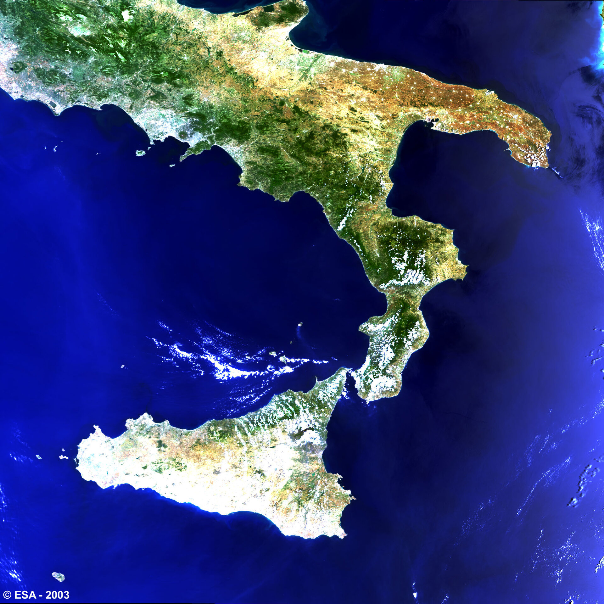 Southern Italy -  MERIS, 21 June 2003