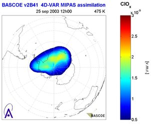 Chlorine activation over the South Pole during 25 September 2003 as obtained from MIPAS measurements