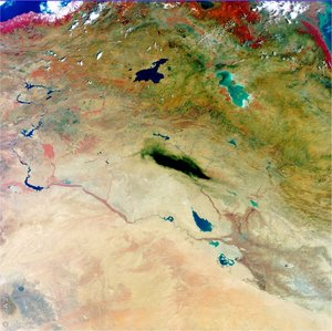 MERIS image of northern Iraq, acquired 30 August 2003