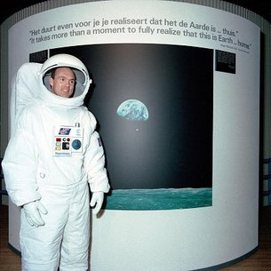 André Kuipers in space suit