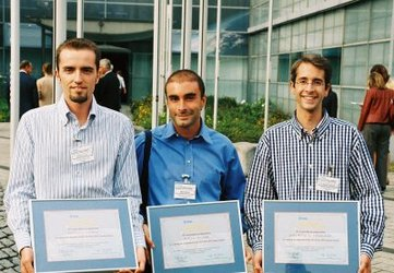 From left to right: Adalberto Costessi (1st prize), Roberto Rusconi (2nd prize), Eric Belin de Chantemèle (3rd prize)
