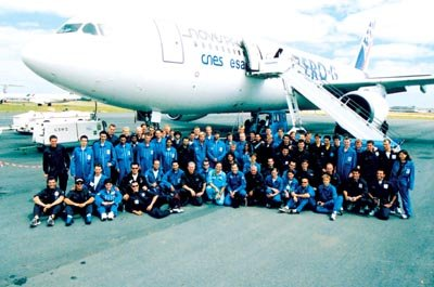 Parabolic Flight Campaign 2003- Participants and organizers