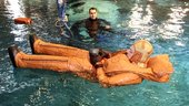 Duque during Neutral Buoyancy Laboratory training