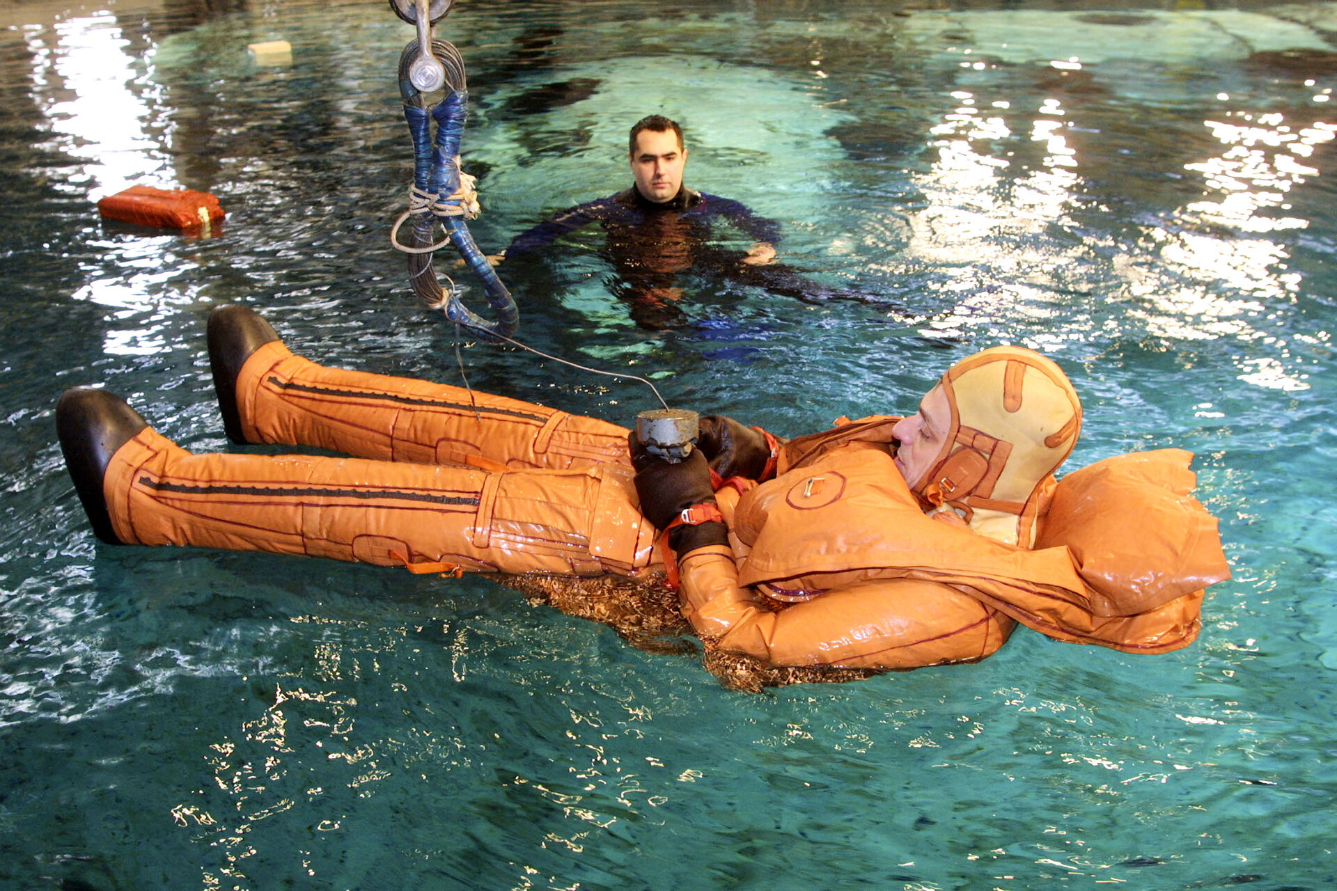 Pedro Duque during Neutral Buoyancy Laboratory training at Star City