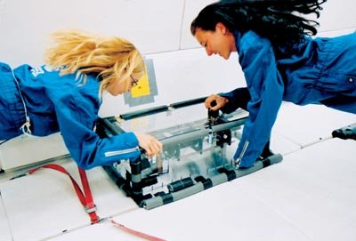 Students working in Zero-G
