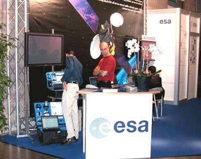The ESA Telecom stand at SAT Expo