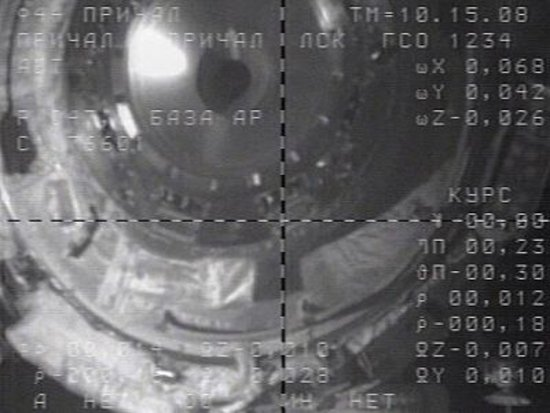 View of ISS from Soyuz