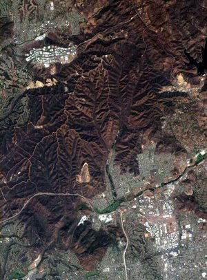 Proba image of San Diego county, acquired 5 November 2003