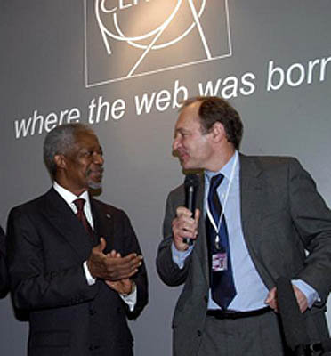 Kofin Anan and Tim Berners-Lee