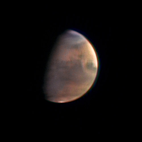 Mars from 5.5 million km, taken 1 December