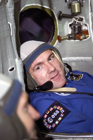 During training in the Soyuz simulator
