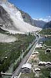 Landslide in a Swiss valley