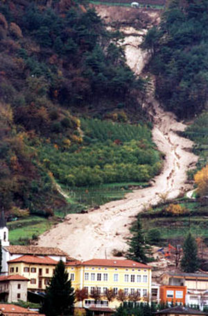 Landslide in northern Italy