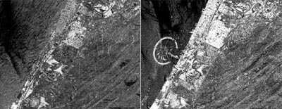 Merged SAR images acquired four years apart