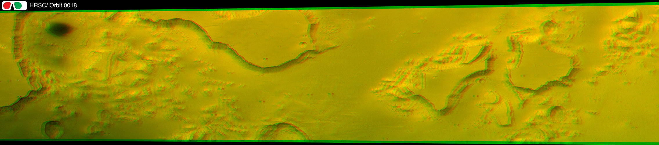 3D image of Valles Marineris taken by Mars Express HRSC