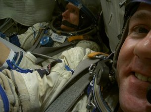 With Gennady in Soyuz simulator