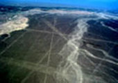 Aerial photograph of Nasca lines