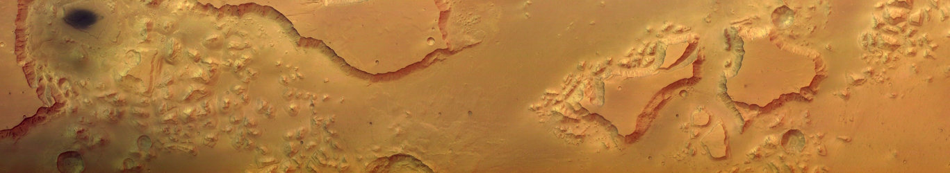 Full colour image of Valles Marineris taken by Mars Express HRSC