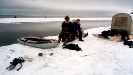 Inuit guide tourists to the ice edge