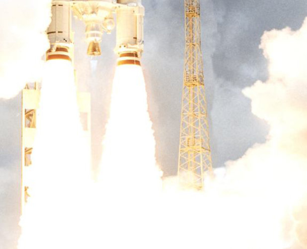 Liftoff for an Ariane 5