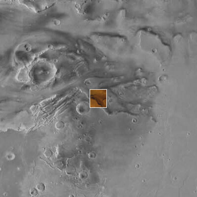 Composite showing the location of Kasei Vallis