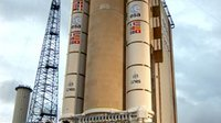 Ariane 5 launch vehicle ready to lift off