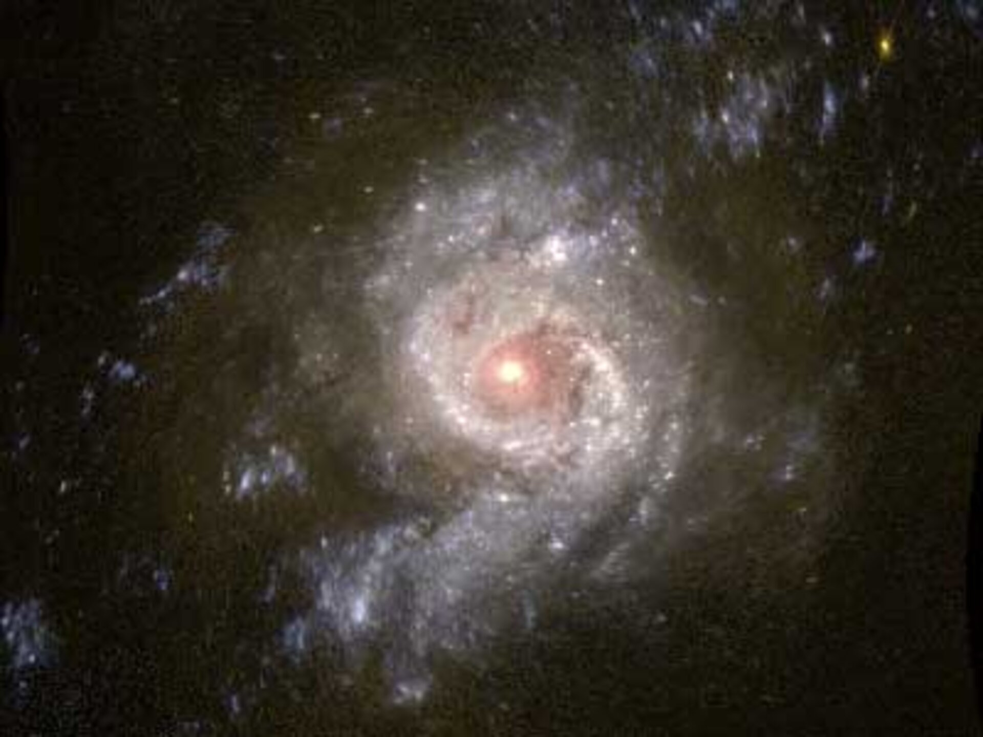 Artist's impression of a rotating galaxy