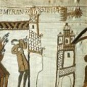 Comet Halley depicted on the Bayeux tapestry