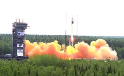 Rockot launch of multiple orbit mission in 2003 from Plesetsk Cosmodrome