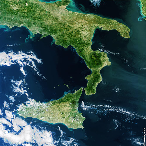 South of Italy - MERIS - 10 October 2003
