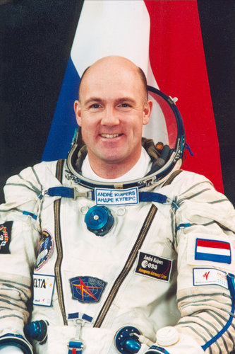 André Kuipers portrait - Dutch flag