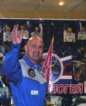 Dutch ESA André Kuipers during the pre-launch press conference