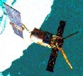 ERS-2 in orbit around the Earth