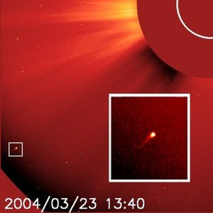 SOHO comet 750 seen by LASCO C2