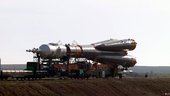 Soyuz rocket roll-out