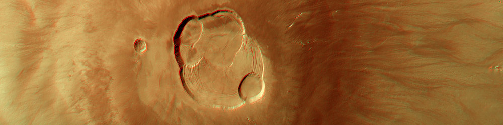 The Olympus Mons on Mars