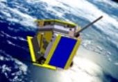 The Proba 2 1/4 satellite in orbit around the earth