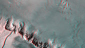 Anaglyph image of Olympus Mons