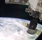 Earth and Soyuz TMA-4 from ISS