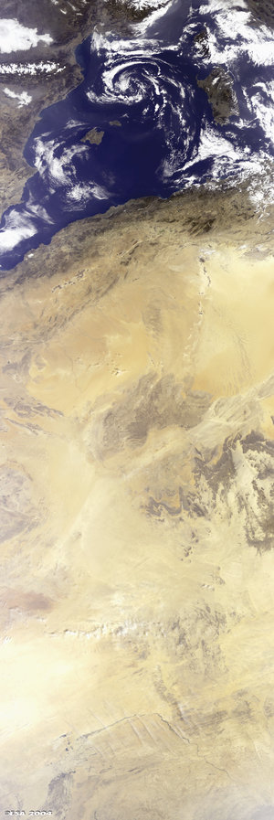 Algeria as seen from space by Envisat