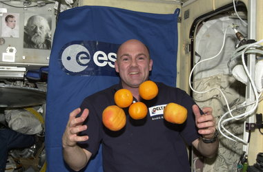 André Kuipers during the DELTA Mission to ISS in April 2004