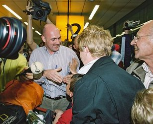 André Kuipers is welcomed home at Schiphol Airport