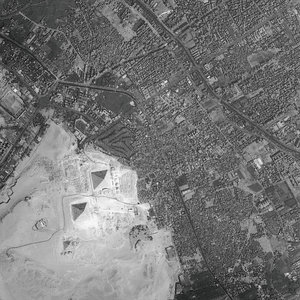 HRC image of the Pyramids of Giza